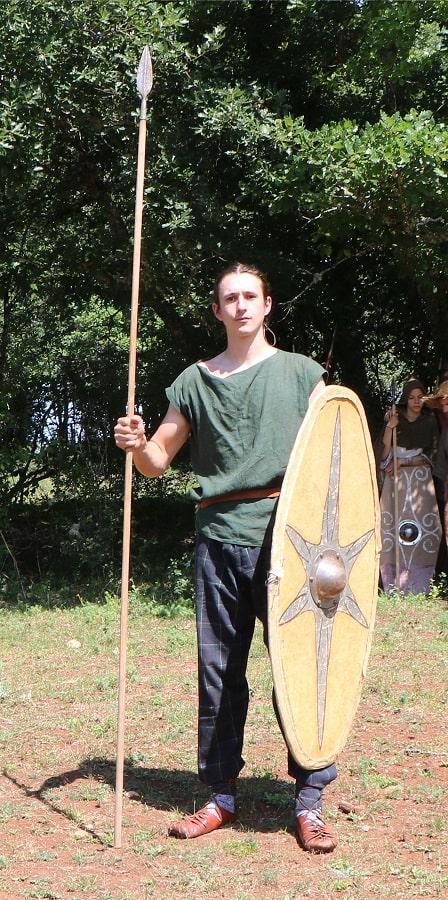 Lancier gaulois fantassin léger lance